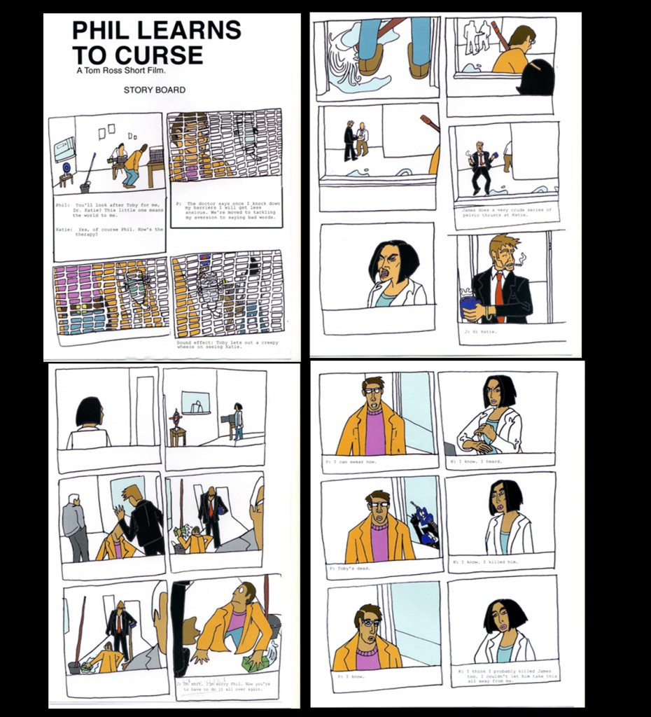 'Phil Learns to Curse' Short Film Storyboard