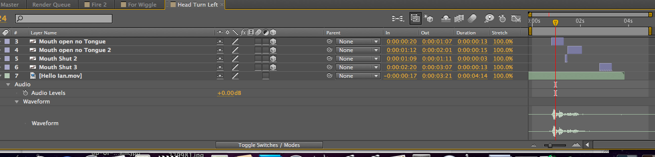Editing to the audio waveform