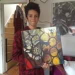 Max Gittens with 'Maximus' Painting